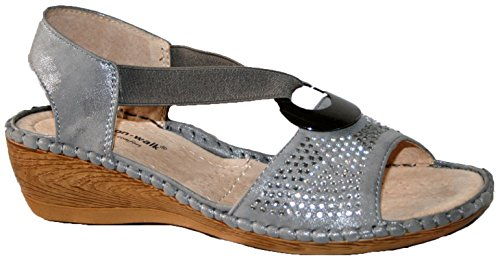 Cushion Walk - Peep-Toe donna silver diamante