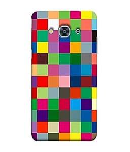 FUSON Designer Back Case Cover for Samsung Galaxy J3 Pro :: Samsung Galaxy J3 (2017) (Triple Monitor Multi Multiple Screen Brique Cube)