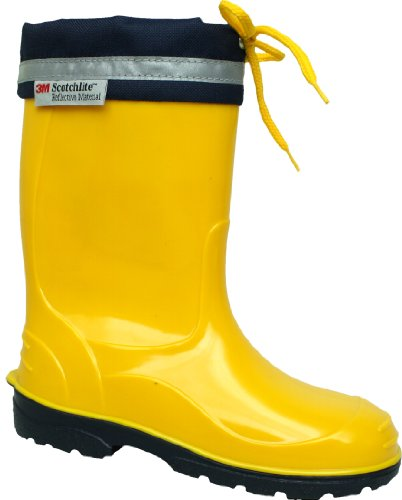 Bright Durable Kids PVC Wellies with Reflective Safety Strip