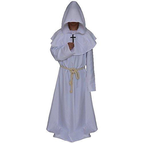 Mönchskostüm Herrenkostüm Mönch Priester Mönchskutt, Mittelalterliches Faschingskostüm 5 Farben (Mittelalterlichen Mönch Die Kostüme)