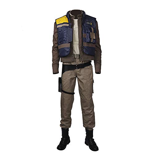 Glam Cos The Rogue One - Andor Male Cosplay Kostüm - Diego Luna - - X-Small (Rogue Cosplay Kostüm)