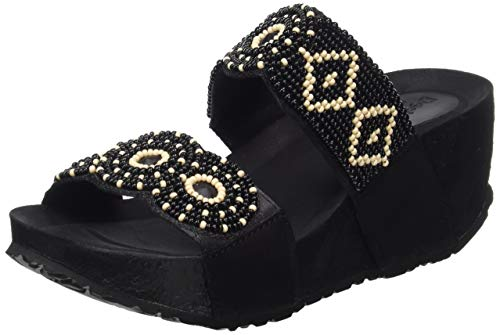 Desigual Shoes (Cycle_Beads Bn), Sandali con Zeppa Donna, Nero (Negro 2000), 37 EU