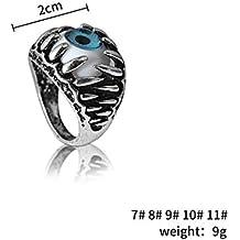 vitihipsy Acero inoxidable de los hombres garra mal diablo ojo gótico biker anillo Cool partido joyería