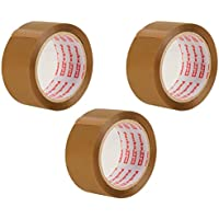 Packatape 3 Rolls 48MM x 66M Brown Packaging Tape for Parcels and Boxes
