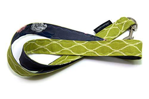 Lieblingsmanufaktur Umhängeband für Schlüssel, Werksausweis & Co. mit Karabiner in vielen individuellen Stoff-Varianten Grün