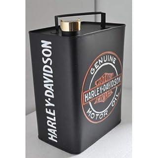 Harley Davidson inspired 33cm Rectangular Oil Can - Motorcycle Vintage Style Finish Hand Painted Classic American USA Motorbike Bike Motor Retro Mancave Man Cave Pub Shed Garage Workshop Gift