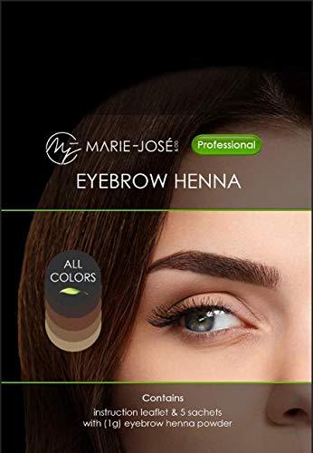 Augenbrauen Henna Probier-Set mit 5 Farben Jetzt mit mehr Inhalt: 15 Anwendungen!