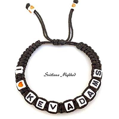 Bracelet avec message I LOVE (réversible, personnalisable) homme, femme, enfant