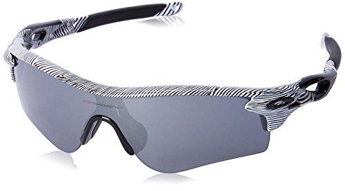 Oakley Unisex-Erwachsene Radarlock Path OO9181 Sonnenbrille, Weiß (Blanco Brillo/Negro Rallas), 0