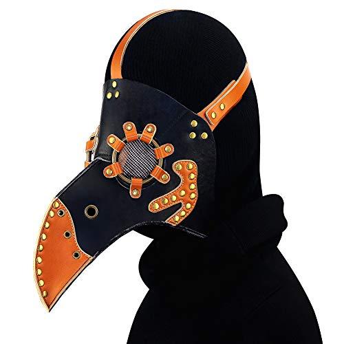 Verkauf Für Mittelalterliche Kostüm - CX Best Vogel Schnabel Maske, Pest Doktor Vogel Kopf Maske mit Langer Nase, Gothic Steampunk Leder Maske für Männer und Frauen Erwachsene, Kostüm Requisiten für Maskerade