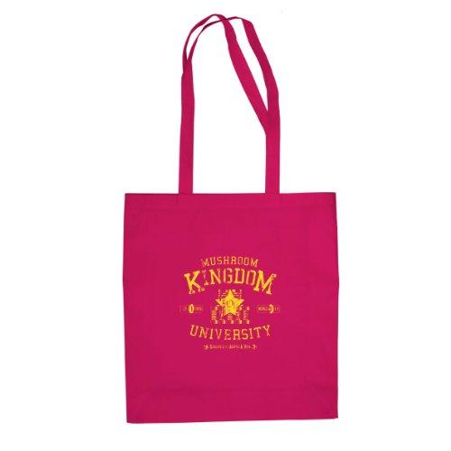 Mushroom Kingdom University - Stofftasche / Beutel Pink