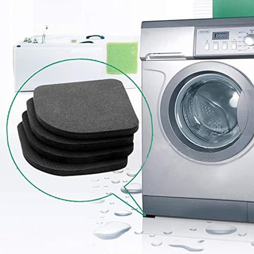 DaDago 4Pcs 7.7X7.7Cm Kühlschrank Elektrische Anti-Slip Pads Anti-Vibration Matte Badezimmer-Waschmaschine Mute Shock Pad Square Table Mats