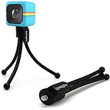 igadgitz Flessibile Mini Treppiede da Tavolo per Polaroid Cube HD, XS100 and XS100i Extreme Edition Action Cams con Clip da Tasca- Nero