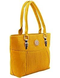 BFC- Buy For Change Fancy Stylish Elegant Yellow Handbag For Woman And Girls