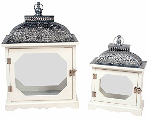 la-hacienda-set-of-two-victorian-style-wooden-lanterns-large-medium-with-silver-metal-roofs-carrying