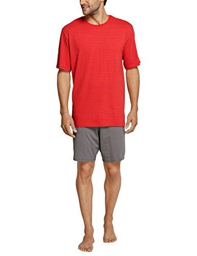 Schiesser Herren Zweiteiliger Schlafanzug Essentials Anzug Kurz Rot