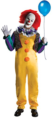 IT The Movie Deluxe Pennywise Adult Costume - Mörder Clown Kostüm Männer