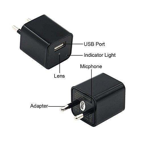 Telecamera Nascosta, UYIKOO 1080P Mini Telecamera Spia USB Caricatore da Parete Adattatore per Videocamera Fotocamera portatile con Rilevazione di Movimento, Fotocamera da 32 GB di Memoria Incorporata - 6
