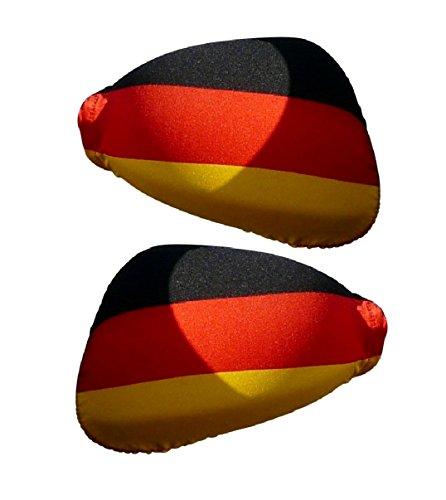 FANista Fi03 Weltmeister Fan Flagge Deutschland Außenspiegel Fanfahne für Auto 2er pack zur EM WM Fußball