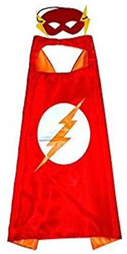 squishybean 1 Set Kinder Cape und Masken Flash Kostüme Super Hero Kleid bis Flash Kostüme Avengers Flash Fancy Kleid