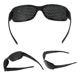 Itian Unisex della Vista Vision Cura Occhiali Foro Stenopeico Migliorare Pinhole Occhiali di Esercitazione degli Occhi…