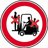 Mitfahren auf Gabelstapler verboten Verbotsschild, selbstkl. Folie, Größe 10cm