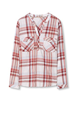 edc by ESPRIT Damen Bluse Rot (Coral Red 640)
