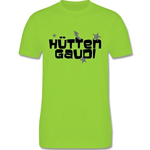 Après Ski - Hüttengaudi Snowboarder - Herren Premium T-Shirt Hellgrün