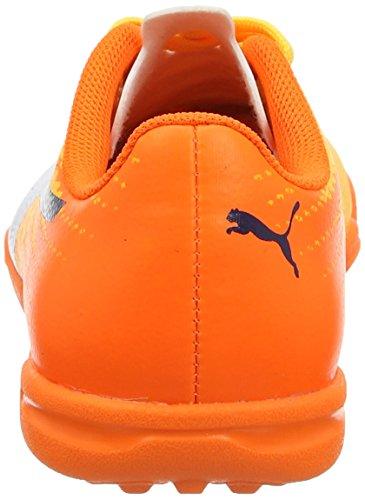 Puma Unisex Kids  Evospeed 17 5 TT Jr Football Boots   Ultra Yellow-Peacoat-Orange Clown Fish 03   6 UK