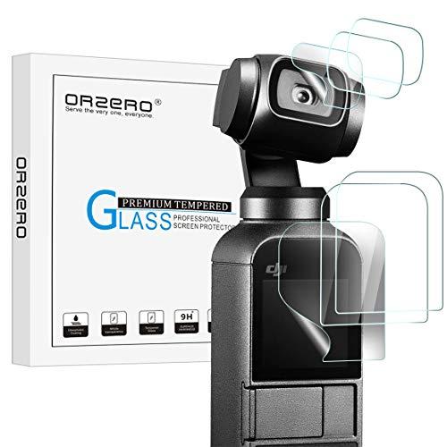 NEWZEROL Ersatz für DJI Osmo Pocket Schutzfolie, [3 Set] [Mit ND Filter] TPU Kameraschutz Anti-Kratzer Displayschutzfolien Anti-Bläschen Kamera Zubehör - CLAR [Linsenfilm X3 + Bildschirmfilm X3]