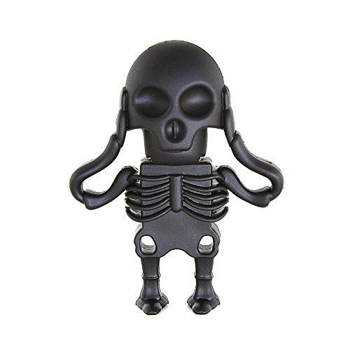 e Horror USB Flash Drive Memory Stick Halloween Geschenk Black Skull 16 GB (Gute Halloween-ideen Für Freunde)