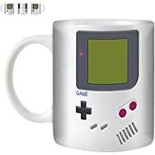 STUFF4 Tea/Coffee Mug/Cup 350ml/White/Nintendo GameBoy Inspired/White Ceramic/ST10 by Stuff4®