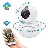 N2N Wlan kamera Überwachungskamera innen wlan handy, 720P HD Ip Camera Wifi Innen für Heimsicherheit, Ueberwachungskamera mit Nachtsicht, 2 Wege Audio,Bewegungserkennung und Intelligenter Rotation