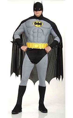 Das Muskel Brust Für Erwachsene Kostüm Batman - Rubie 's Offizielles Batman Deluxe Kostüm mit Muskel Brust-Erwachsene Plus Größe