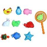 Conjunto de 10 animales lindos Baby Kids baño de juguete de juguete de deporte de agua de diversión con Net Picker...