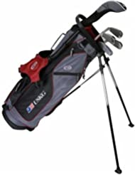 """Estados Unidos Kids 2017 Golf Ultra Light, 5 Club soporte juego de Golf con bolsa (54 cm), grey/maroon, Grey/Maroon"