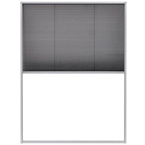vidaXL 142610 - Zanzariera plissettata con telaio in alluminio, 60 x 80 cm, colore: bianco