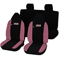 Lupex Shop fundas de asiento, color negro/rosa