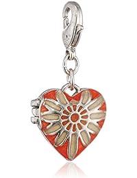 Pilgrim Jewelry Damen-Anhänger aus der Serie Charms versilbert orange 3.0 cm 401316307