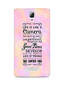 AMEZ life is like a camera Back Cover For Lenovo A2010