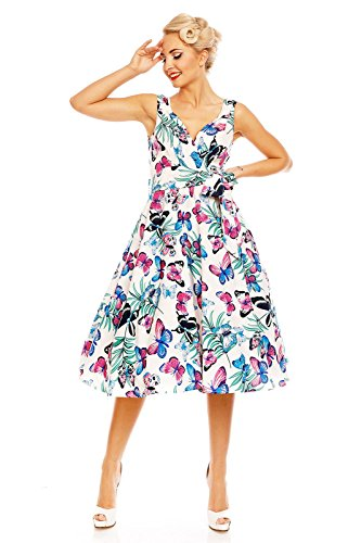 Looking Glam Retro Vintage Rockabilly Swing 1950's Party Butterfly Print Dress