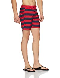 United Colors of Benetton Men's Shorts (BS02I_Small_Striper Red)-903