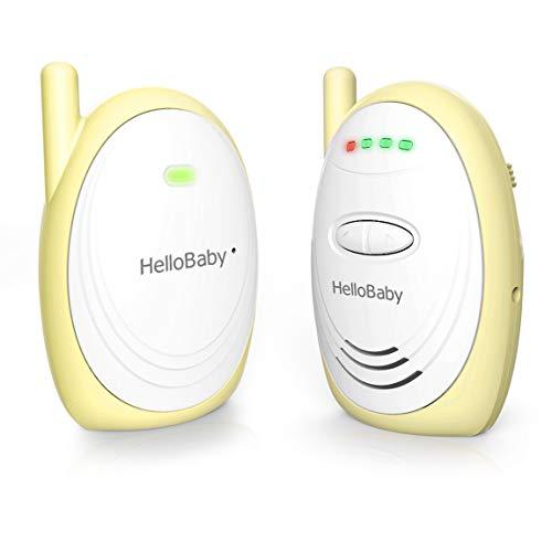 HelloBaby HB168 Baby Monitor, Audio Digitale'plug-n-go' con Versione Notturna, giallo (Giallo)