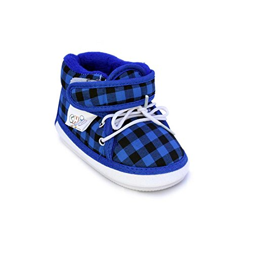 Chiu Blue Color Velcro with Lace Whistle Musical Outdoor First Walking Shoes 12-16Months  available at amazon for Rs.179