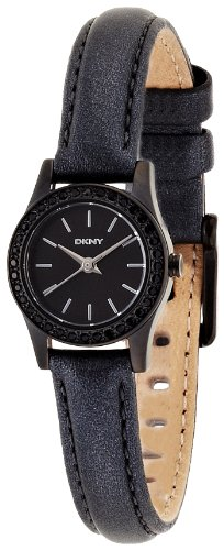 DKNY NY8697 Gents Black Leather 40MM Stainless Steel CASE Mineral Glass Watch