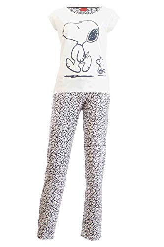 Damen Pyjama Schlafanzug Nachtwäsche 271249 Peanuts/Snoopy L 44/46 (Peanut Snoopy Schlafanzug)