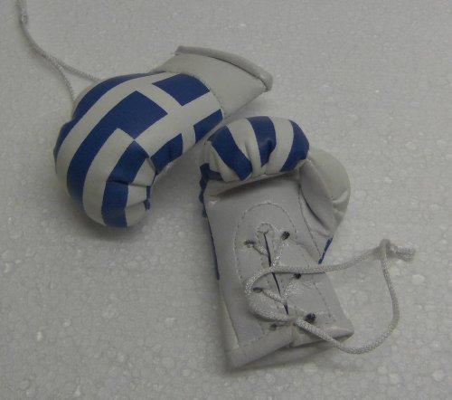 Mini Boxhandschuhe mit der Griechenland Flagge