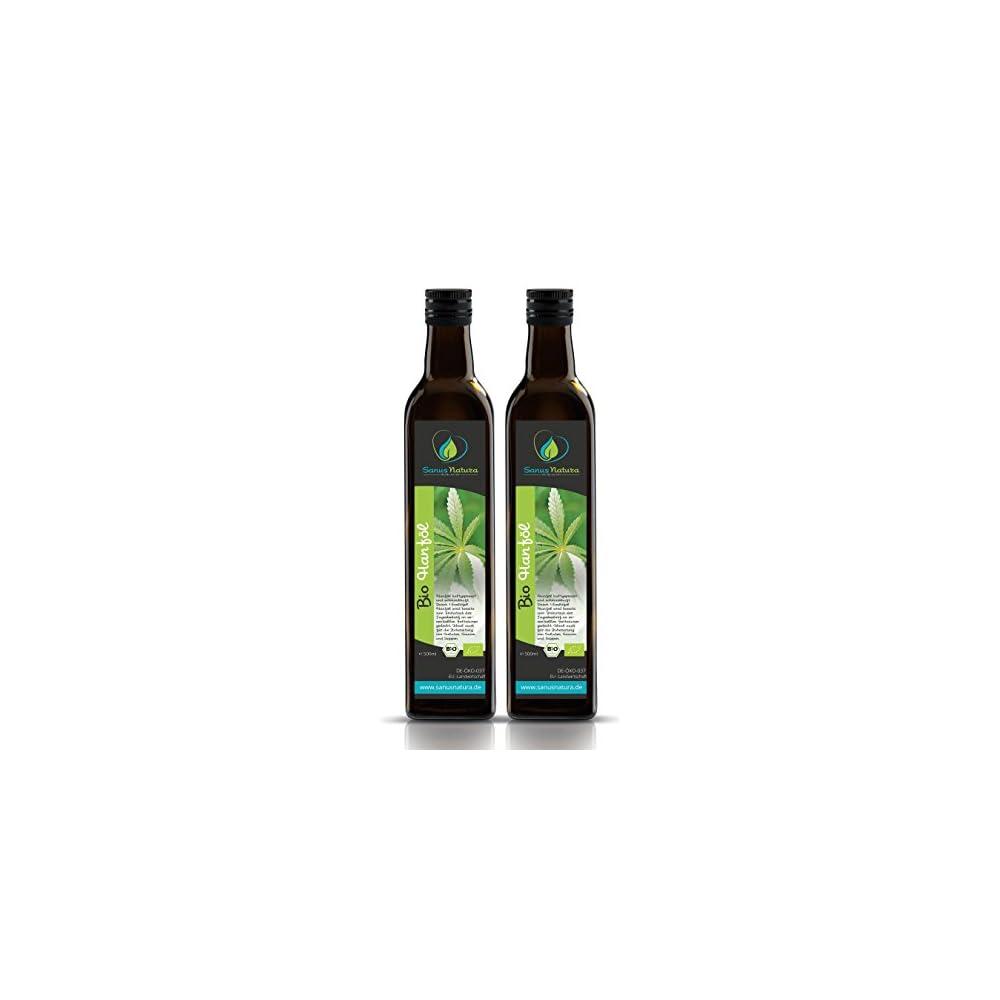 Sanus Natura Bio Hanfl 1000ml Glasflasche