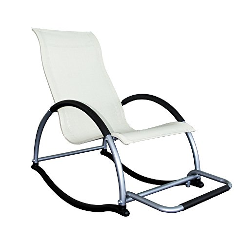 Trueshopping Ledro Rocking Chair con reposapiés Luz 4.5kg. Marco de a