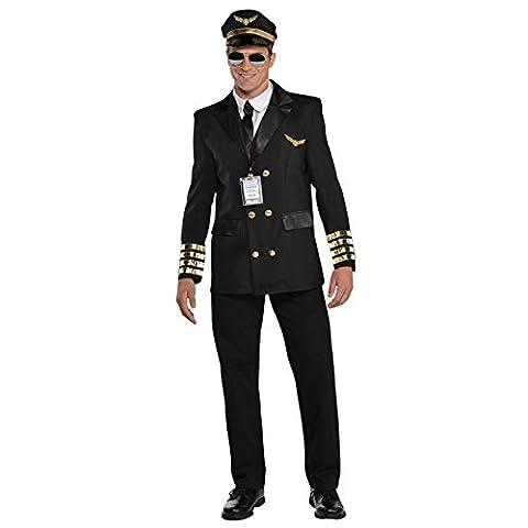 Airline Pilot Costume De Déguisement - Adultes Christys Habillage Pilot Capitaine Wingman Airline